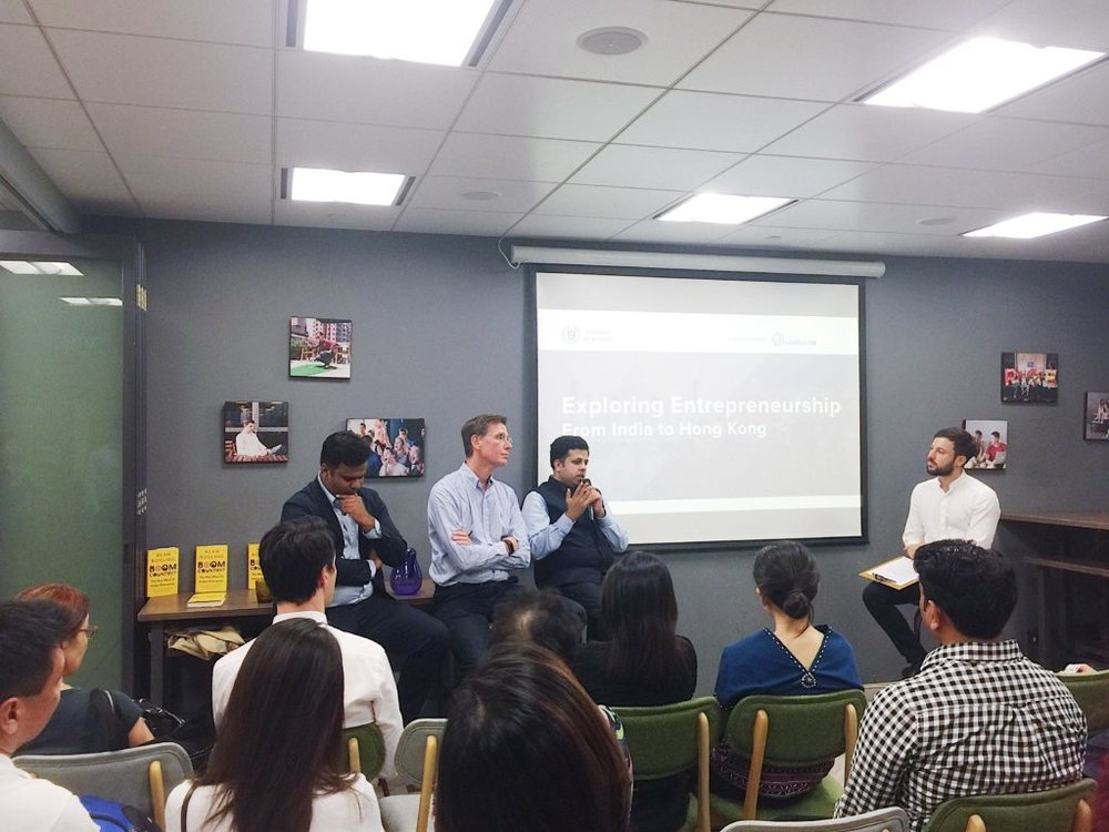 (From left to right) Speakers at the event: Prashant Garg, Alan Rosling CBE and Syed Musheer Ahmed; moderated by James Bernado, Programme Director of Garage Society