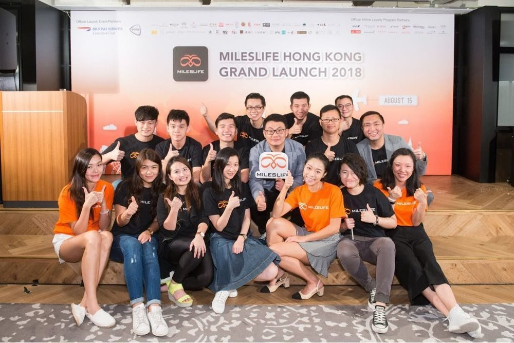 The Mileslife Team at the company's Hong Kong launch event (Source: Mileslife)