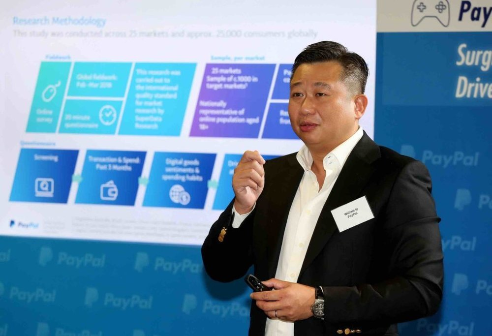 William Ip, Director, PayPal Hong Kong, Korea & Taiwan shared the results of the PayPal 2018 Global Gaming Research.