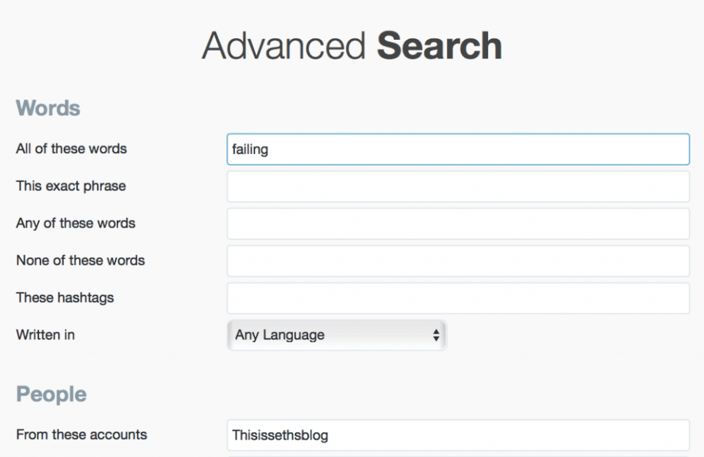 The Comprehensive Guide to being a Twitter Advanced Search