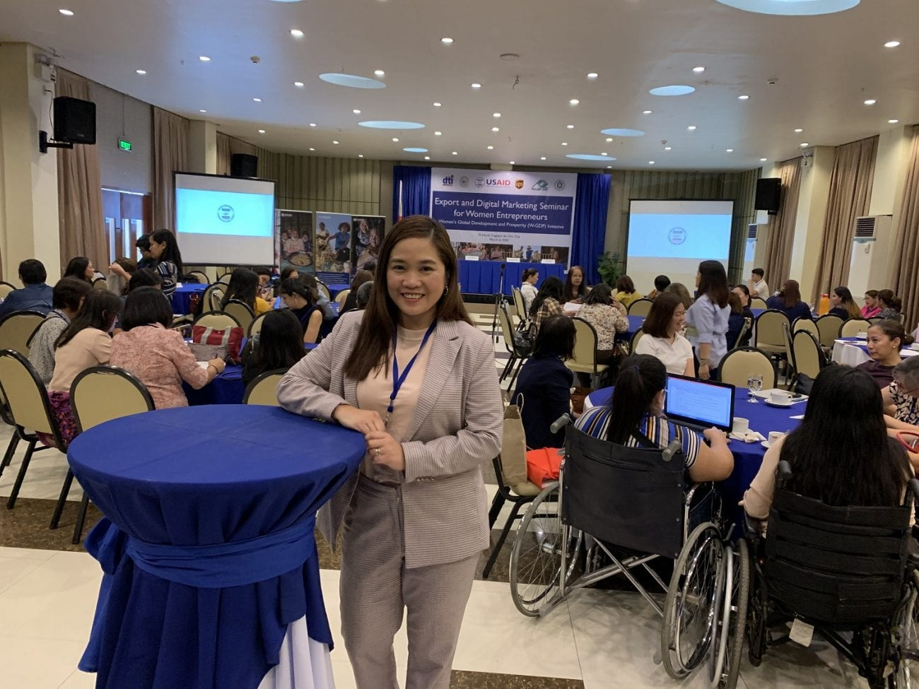 Marianne Mendoza Marketing Manager for UPS Philippines training close to 100 women business owners in the Philippines