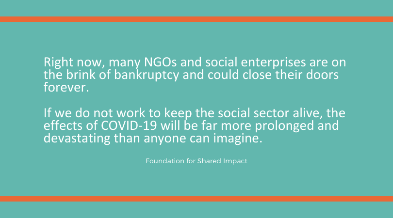 THE SOCIAL SECTOR NEEDS A LIFELINE – HOW EVERYONE CAN HELP